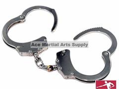 Professional Handcuffs Silver Steel Police Duty Double Lock w/Keys NEW