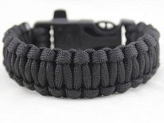 Bolayu Outdoor 4 in 1 Popular Rescue Rope Flint Fire Escape Bracelet Survival Gear (A)