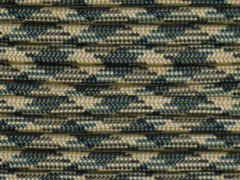 100' Woodland camo 550 Paracord / Parachute Cord, Type III, 7 Strand, 5/32 (4mm) Diameter, 550LB Breaking