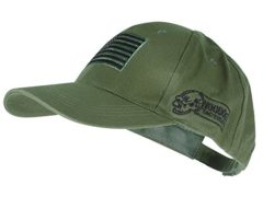 Voodoo Tactical 20-9353 Contractor Baseball Cap w/ Sewn on Flag Patch, Olive Drab