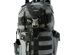 [IMPACK] RT1525 Tactical Molle Assault Shoulder Cross Body One Strap Sling Backpack (DK Grey)