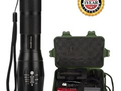LED Flashlight, Amz vision Portable LED Tactical Flashlight, Water Resistant Outdoor Torch with 18650