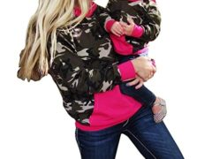 Ma&Baby Family Mother Daughter Women Girls Camo Tops Hoodie