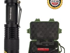 Mini Flashlight, Amz vision Brightest LED Flashlight Torch, 5 Modes,