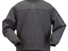 5.11 Tactical #48099 Chameleon Softshell Jacket (Black, Large)