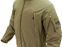 Condor Summit Soft Shell Jacket with Patches Bundle - 3 Items (X-Large, Tan)