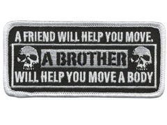 "Hot Leathers Move a Body Hook Back Patch (Multicolor, 4"" Width x 1.75"" Height)"