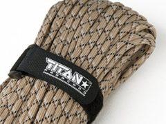 TITAN MIL-SPEC 550 Paracord / Parachute Cord, 100 Feet, Desert Camo | Authentic MIL-C-5040,