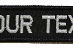 Customizable Text 1x3.75 Patch w/Velcro - Military/Morale - Black