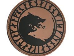 """The VIKING """"ÚLFHÉÐNAR, NO MERCY, ONLY VIOLENCE WOLF RUNE PVC 4"""" Tactical Morale PATCH"""