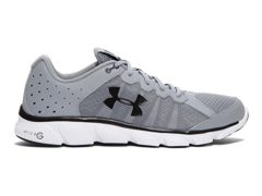 Under Armour Men's Micro G Assert 6 Running Shoes, Steel/White V1, 10