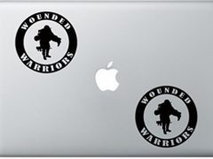 Wounded Warriors Round Military ArcDecals78601343 Set Of Two (2x) , Decal , Sticker , Laptop , Ipad , Car , Truck