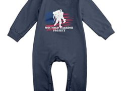 MoMo Wounded Warrior Project Wwp 86 Toddler/Infant Romper Jumpsuit 18 Months Navy