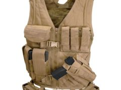 Condor Cross Draw Vest/Tactical Belt (Tan, Medium/Large)
