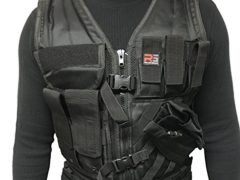SKT TACTICAL MOLLE VEST BUILT TO LAST FREE USA FLAG PATCH (Swat Black)