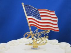 Welcome Home To Our Troops Cake Topper Made IN USA 10% OF YOUR PURCHASE WILL GO TO THE WOUNDED WARRIORS